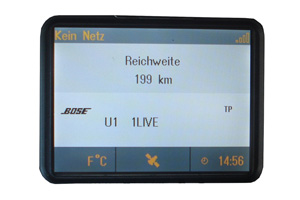 Opel Zafira B - Repariertes CID-Display